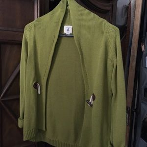 Women's Green Cardigan